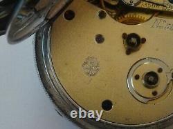 GOOD ANTIQUE VICTORIAN SWISS MADE POCKET WATCH, KEY WIND/SET AW c1880