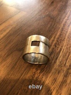 GUCCI Ring Vintage Italian Made Size 9 1/2 Sterling