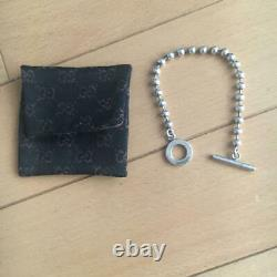 GUCCI Sterling Silver 925 Ball Chain Toggle Bracelet 7.5 Made in Italy NO BOX