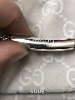 Genuine Gucci Sterling Silver Necklace Very Rare Solid Made Fully Hallmarked