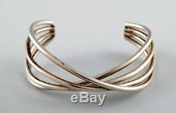 Georg Jensen. Bracelet Model Double Alliance Made in sterling silver