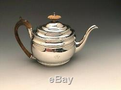 Georgian Era Tea Pot, Sterling Silver, made in London England circa 1802