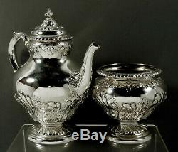 Gorham Sterling Silver Tea Set Made 1898 No Mono