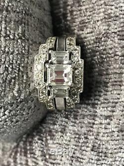Gregg Crawford custom made diamond engagement ring and two wedding band set