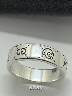 Gucci Ghost Ring 925 Sterling Silver Size 9 Made in Italy