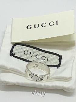 Gucci Ghost Ring 925 Sterling Silver Size9 Made in Italy