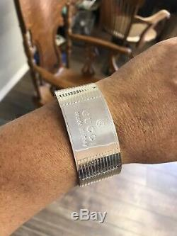 Gucci Made In Italy Sterling Silver Cuff Bracelet