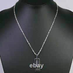 Gucci Men's Trademark Engraved G Pendant + Box Chain Necklace Made In Italy