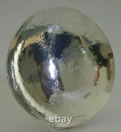 HAND MADE SOLID STERLING SILVER ARTS & CRAFTS DISH BOWL 1987 PLANNISHED 86g