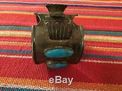 HAND MADE STERLING Silver NAVAJO TURQUOISE Wide! CUFF WATCH BRACELET Old Pawn