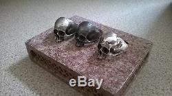Half jaw skull ring silver ring amazing detail 925 sterling hallmarked UK made