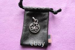 Hand Made in USA Sterling Silver Good Art HLYWD Roadway Flying Wheel Pendant