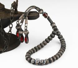 Islamic Prayer Beads, Made of 1.000 sterling silver kazaz tesbih, 9x7 mm tasbih