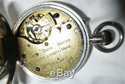 J. W. Benson silver pocket watch made in 1897 The Bank English Movement