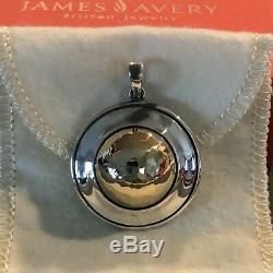 James Avery Sterling & 14K DOME Pendant Retired, Custom made (Read Description)
