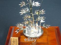Japanese Antique Sterling Silver Bamboo Tree Bonsai Free Shipping Japan made 1