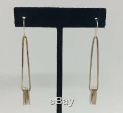 Jill Platner Vintage Sterling Silver Hand Made Long Unusual Dangle Earrings