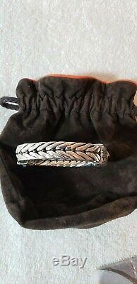 John Hardy Sterling Silver Mens Woven Bracelet Special made