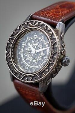 John Hardy Watch, Sterling silver hand made watch, Swiss Watch Corp. Excellent