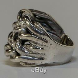 Keeper Ring 925 silver T Z+5 hand made knot biker gothic gypsy feeanddave