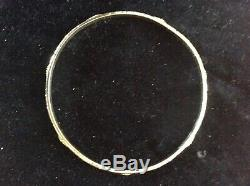 Konstantino 925 Sterling Silver & 18K Gold Bangle Bracelet Made in Greece
