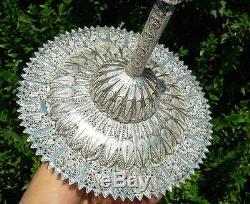 LARGE Hanukkah Dreidel Filigree Sterling Silver Sevivon, Judaica Made in Israel