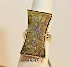 Louisiana Opal, Sterling Silver Hand Made Fantasy Ring+ Post cards