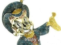 Lucky Charm Hand made 925 Sterling Silver Cubic Zirconia Pendent Free Shipping