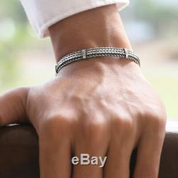 Made in Italy 925 Sterling Silver Men Bracelet Size 7 8 8.5 9 inch VY Jewelry