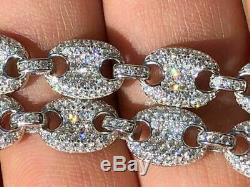 Men's Mariner Gucci Link Chain ICY Man Made Diamonds Solid 925 Silver 8mm Thick