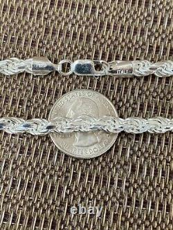 Men's Rope Chain Real Solid 925 Sterling Silver Necklace 6mm 18-30 ITALY MADE