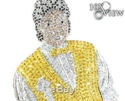 Michael Jackson Custom made 925 Sterling Silver Cubic Zirconia Pendent Free Ship