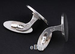 Modern GEORG JENSEN Sterling Silver Cufflinks # 103. Made in Denmark. VERY RARE