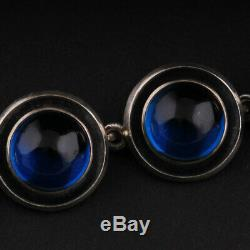 N. E. From Sterling Necklace w. Sapphire, Silver. MADE IN DENMARK. RARE