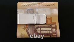NEW Dunhill Engraved Sterling Silver Money Clip. Made in England