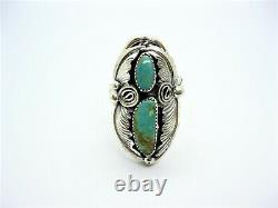 Native American Made Huge Sterling Silver Men's Turquoise Ring Size 11 1/2