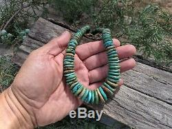 Native American Necklace Santo Domingo Kewa Pueblo Turquoise Hand Made Jewelry