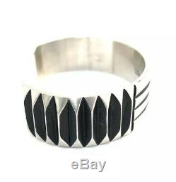 Native American Sterling Silver Navajo Hand Made Silver Cuff Bracelet