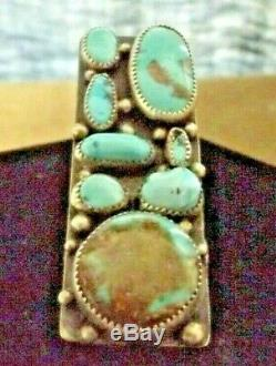 Native Navajo Made Sterling and Turquoise Contemporary Ring Size 7.25