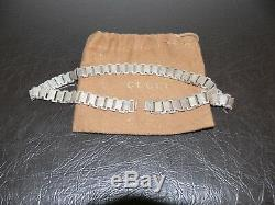 New $900.00 Gucci Chocker Made In Italy 925 Sterling Silver Necklace 15