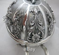 New Fine Sterling Silver Esrog Etrog Box / Jewelry Box 787g Made in Italy