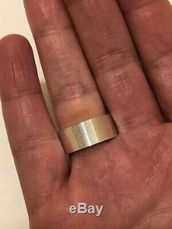 New genuine GUCCI sterling silver. 925 Made in Italy ladies band Ring SZ 5.5