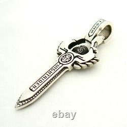 NightRider Aguila Pendant in Sterling Silver 925, Biker Jewelry made in the USA
