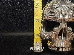 NightRider Poison Belt Buckle Sterling Silver 925, Biker Jewelry Made in the USA