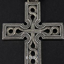 NightRider Sterling Silver 925 Cross Pendant & Chain withOriginal Box made in USA