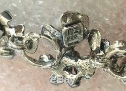 Nwt Or Paz Sterling Silver 925 Floral Pearl Bracelet 7.25 + 1 1/8 Made Israel