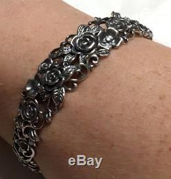 Nwt Or Paz Sterling Silver 925 Rose Garden Cuff Bracelet Made In Israel