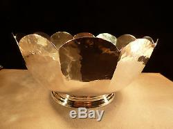 Old Newberry Crafters Onc Hand Made Hammered Sterling Silver Bowl Shreve R Bean