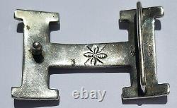 Original Hermes Sterling Silver 925 Touareg H Belt Buckle Hand Made