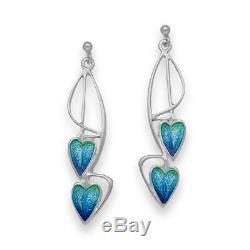 Ortak Jewellery Enamel Pat Cheney Earrings EE751 Made in Scotland. RRP £85.00